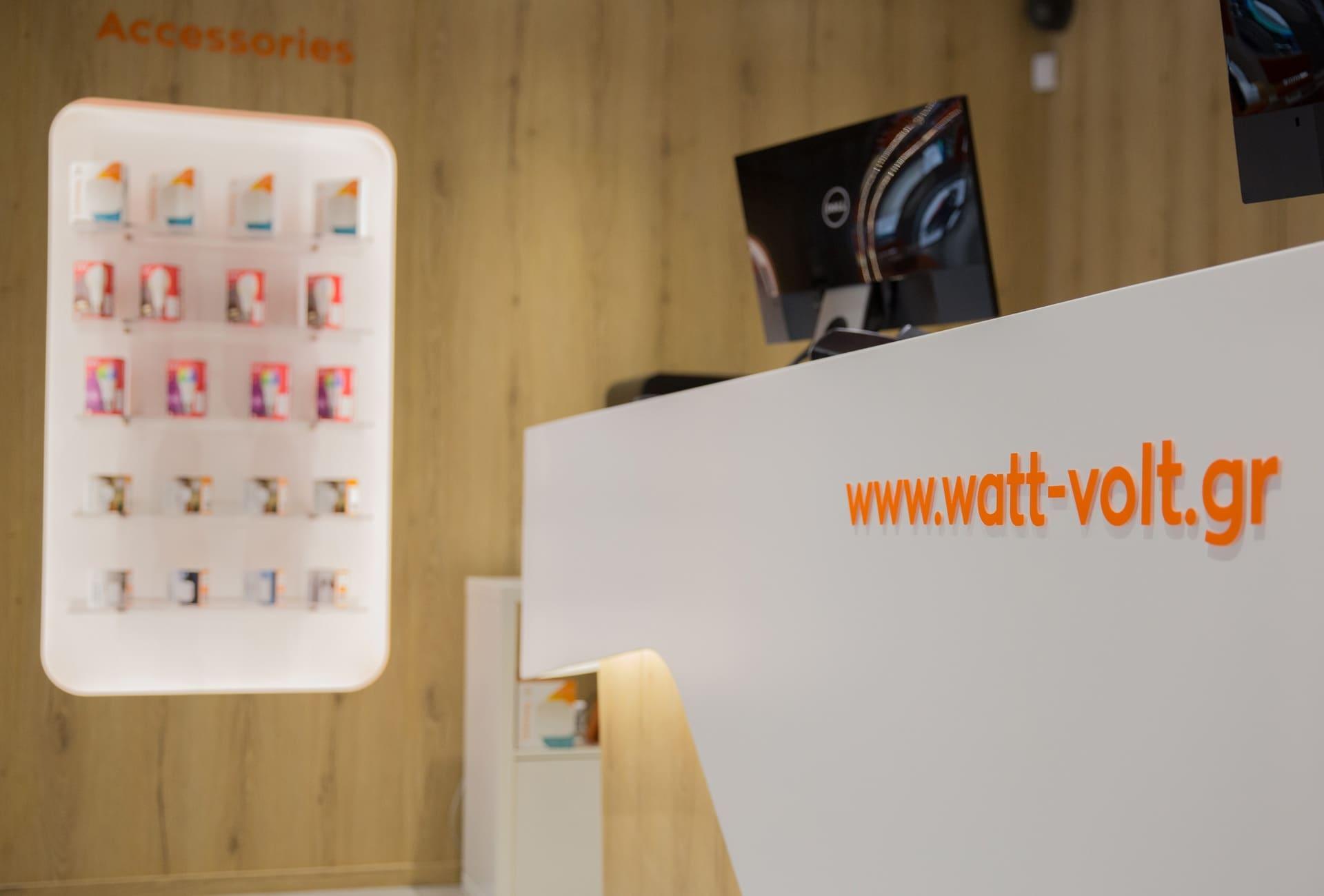 WATT+VOLT Store graphics Γραφίστας Σπύρος Ηλιόπουλος